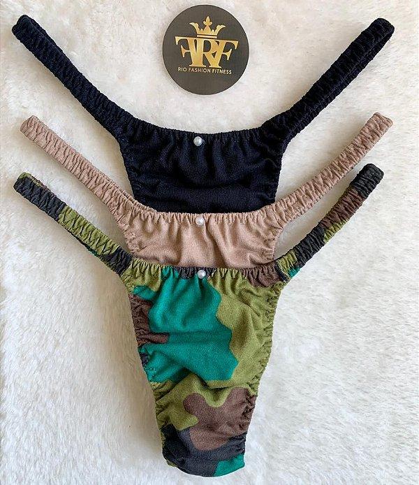 Calcinhas Lolitas Fitness - Trio Army - Ed Limitada Rio Fashion Fitness