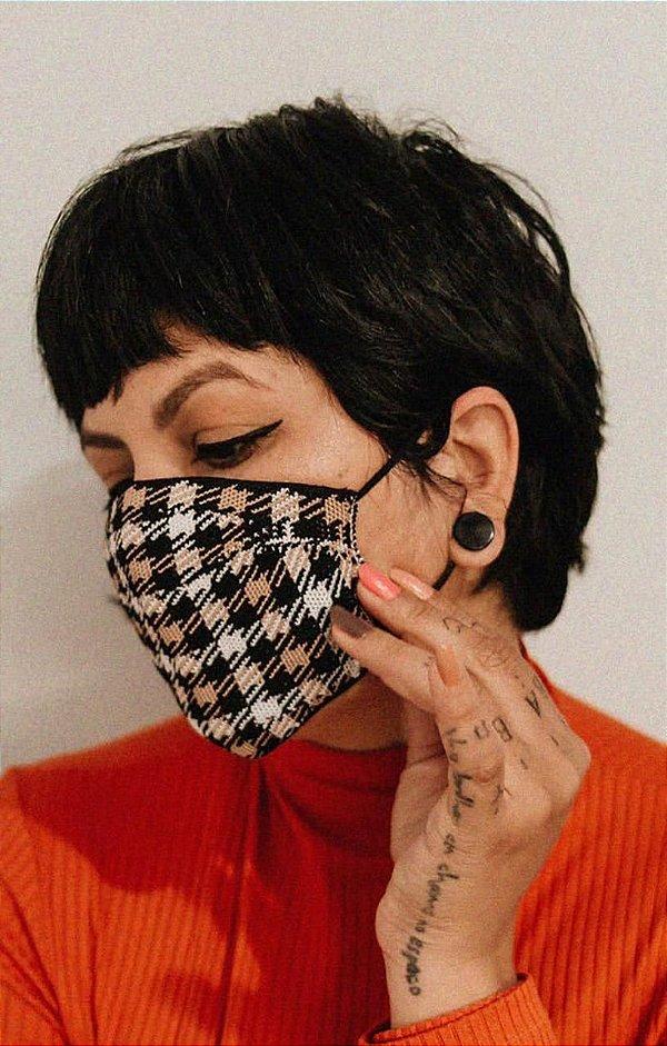 Máscara Anatômica Feminina - Xadrez