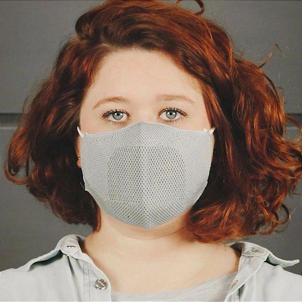 Máscara Anatômica Feminina - Cinza