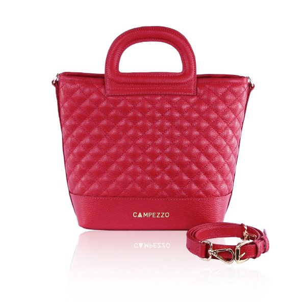 50c0bc037 Bolsa Bucket Bag Couro Vermelho Mateassê - campezzo