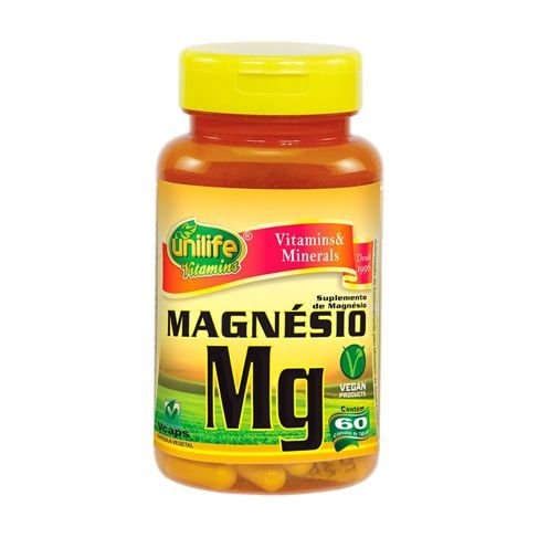 Magnésio Quelato 60 cápsulas - Unilife