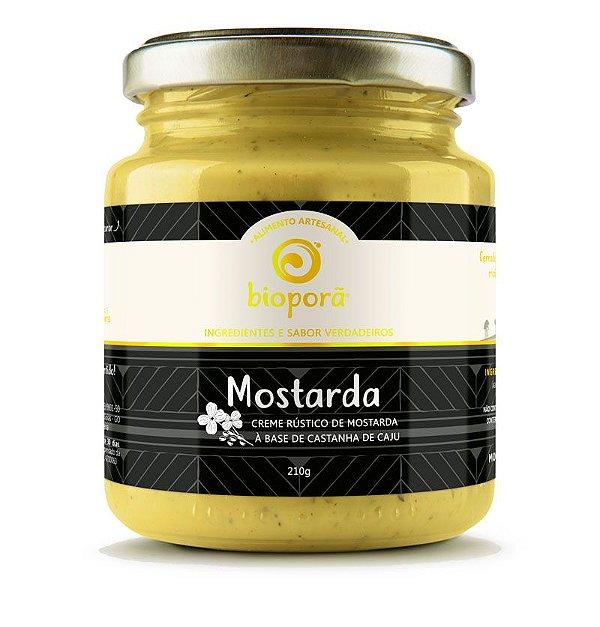Mostarda Rústica Bioporã 210g - Produção Artesanal