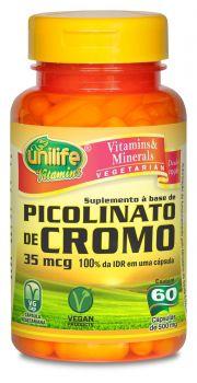 Picolinato de Cromo 60 Cápsulas - Unilife