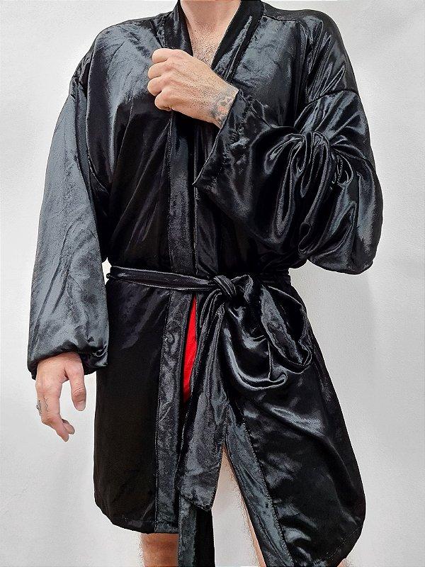 Kimono Veludo Preto