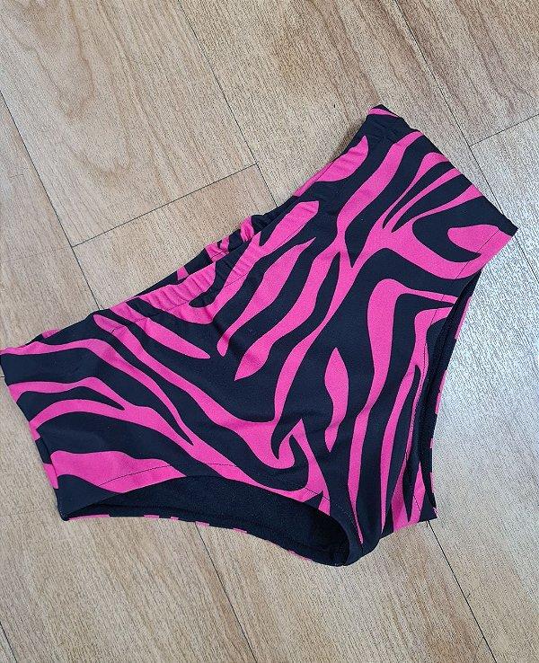 Sunga Zebra Rosa Cavada