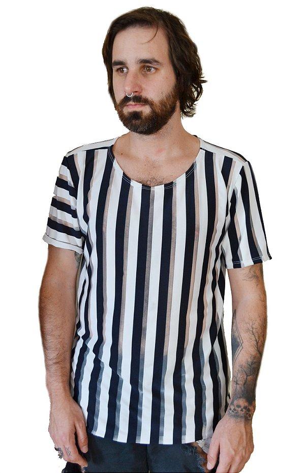 Camiseta Listras P&B