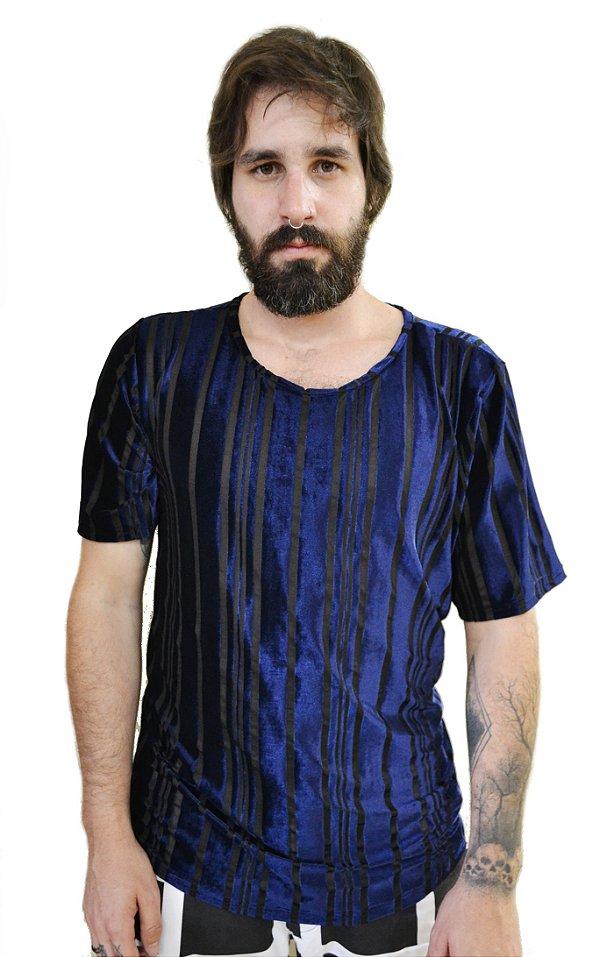 Camiseta Devorê Azul