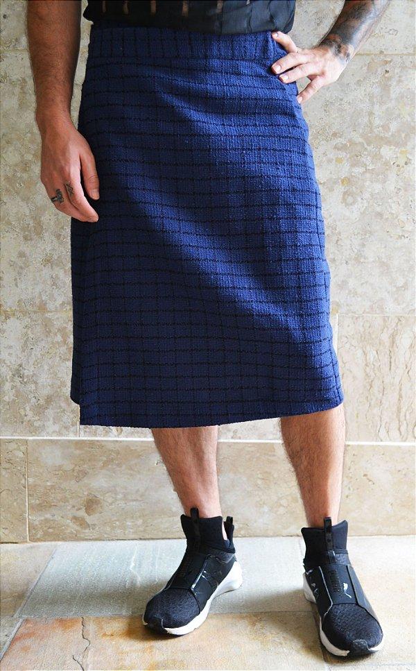 Saia Tweed Azul