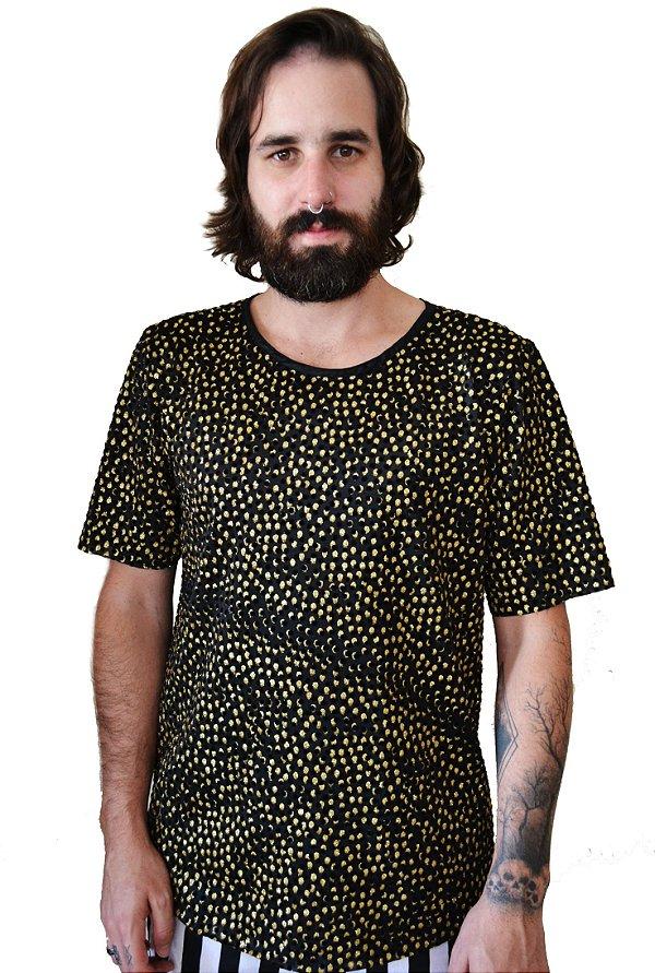 Camiseta Pingos Dourado