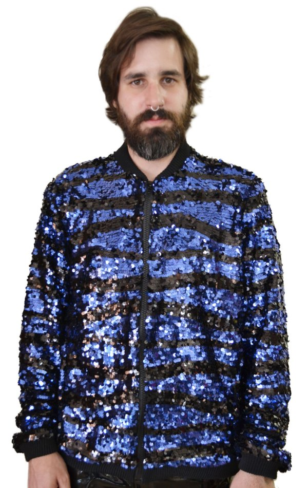 Jaqueta Paetê Azul