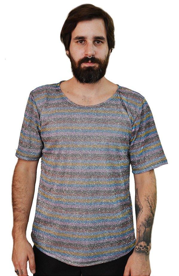 Camiseta Glitter Listras