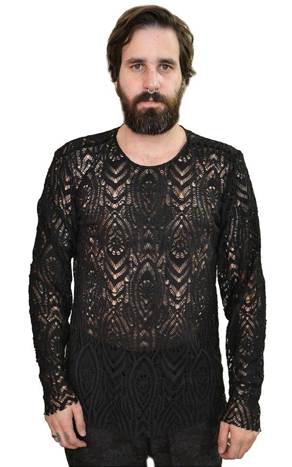 Camiseta Renda Black
