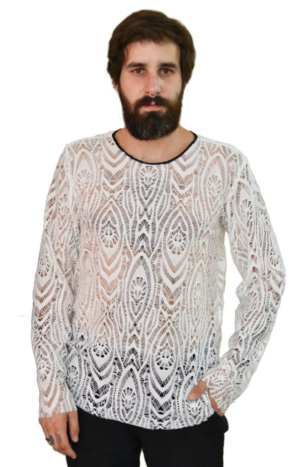 Camiseta Renda White