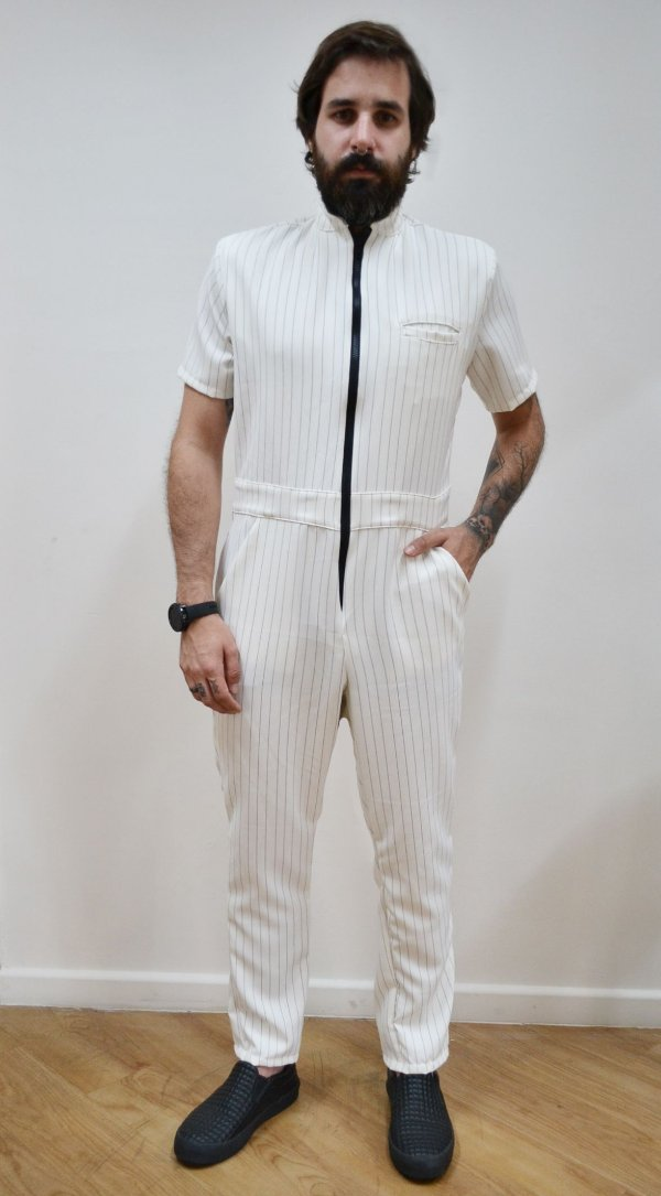 Macacão Giz Branco