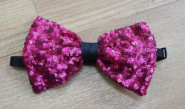 Gravata Paetê Pink