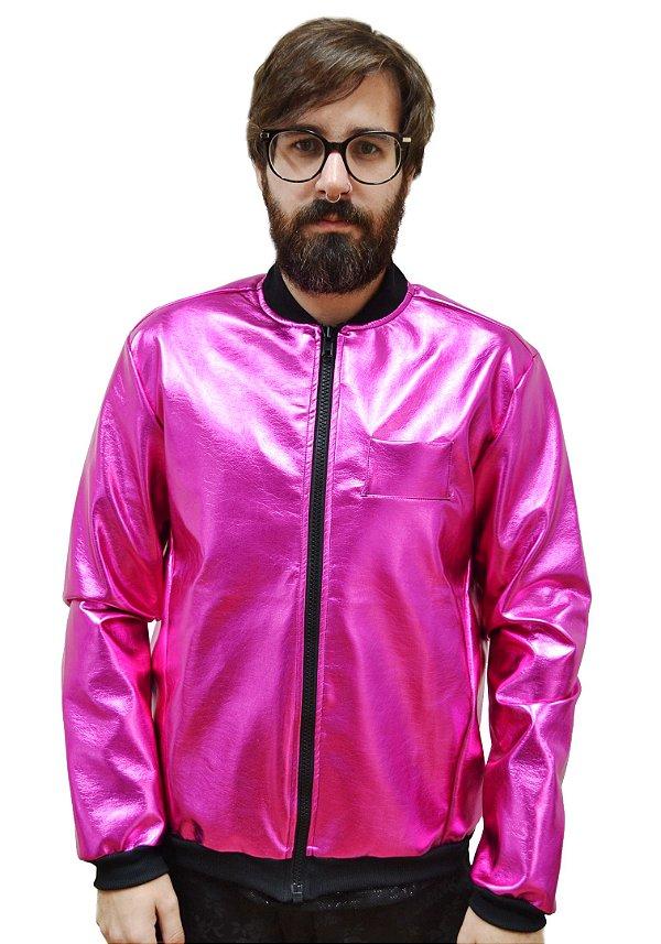 Jaqueta Metalizada Pink