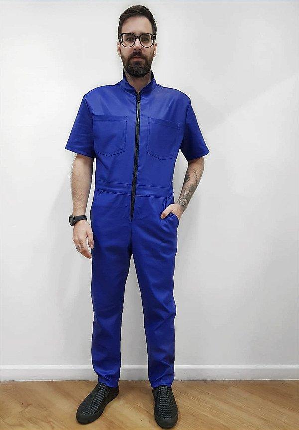 Macacão Resinado Azul