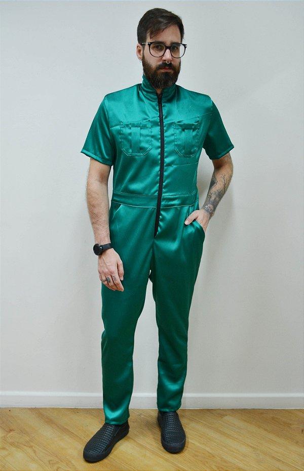 Macacão Cetim Verde