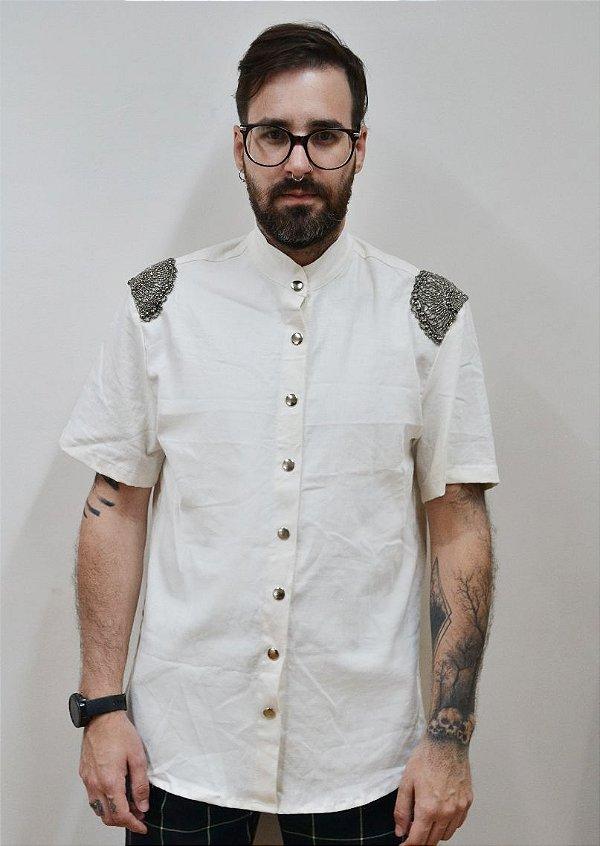 Camisa Adorno Off-white