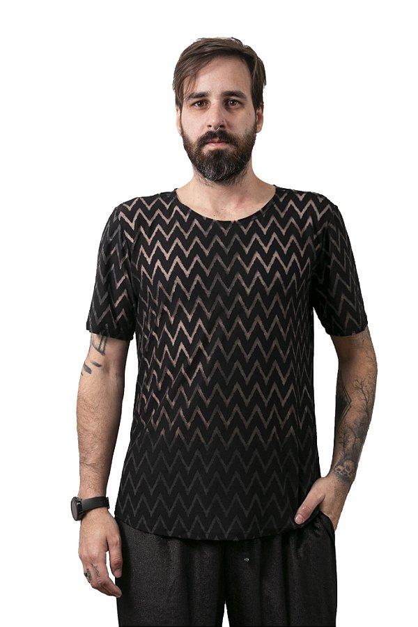 Camiseta Zig Zag Black