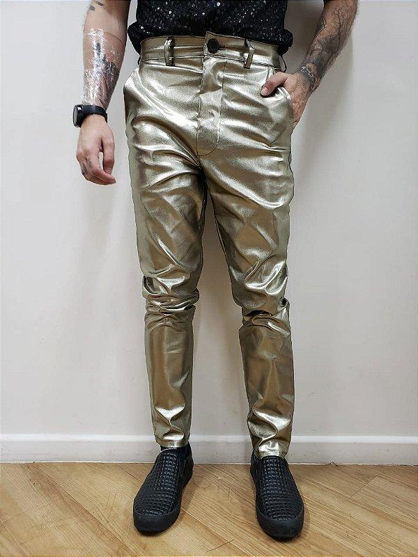 Calça Metalizada Prata