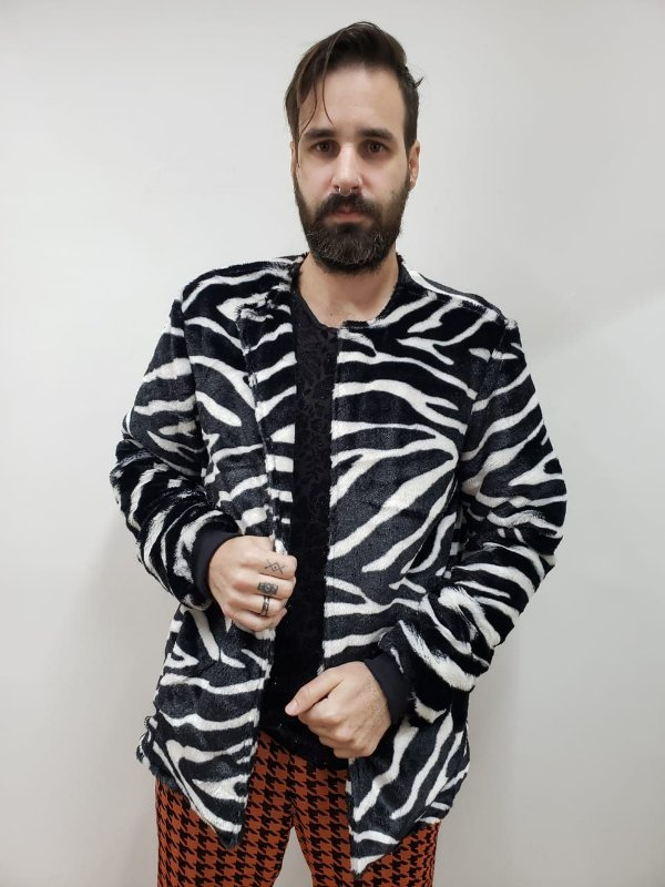 Jaqueta Pelúcia Zebra