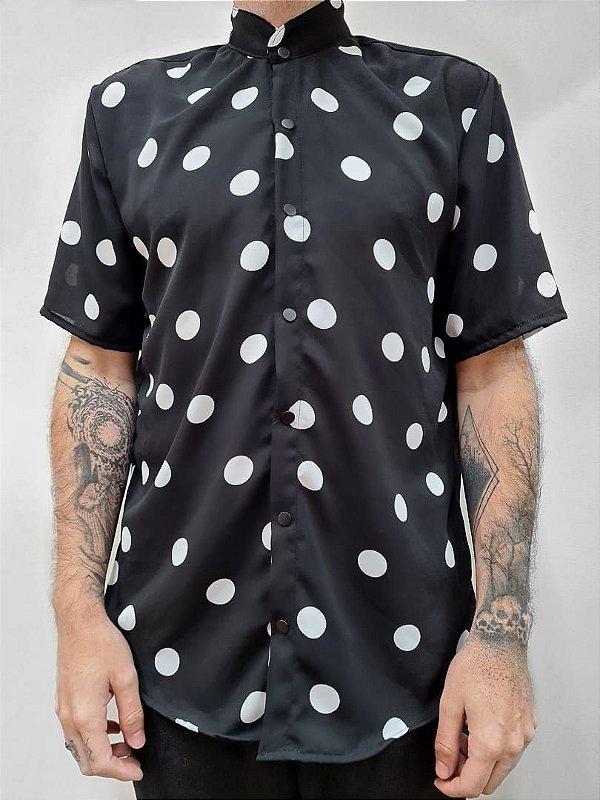 Camisa Bolinha Black