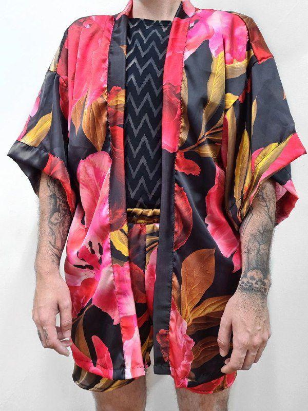 Kimono Rosa Vermelha