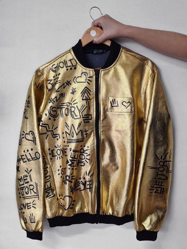 Jaqueta Metalizada Grafitti Gold