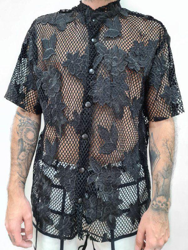 Camisa Pescador Preta