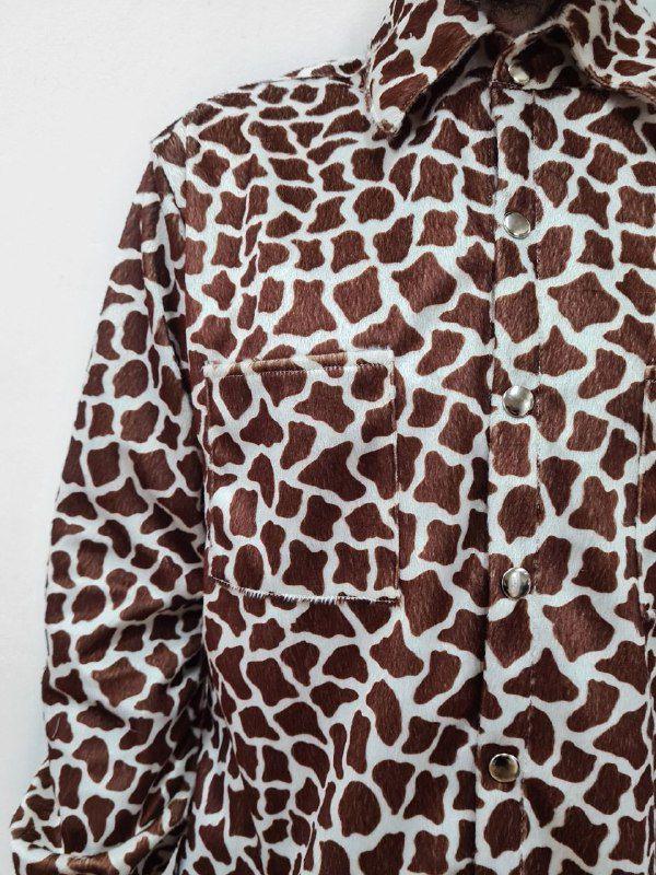 Camisa Girafa Veludo