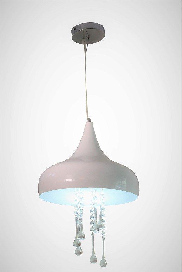 Pendente Ajustável Luminária Treviso Modena Branco e Prata