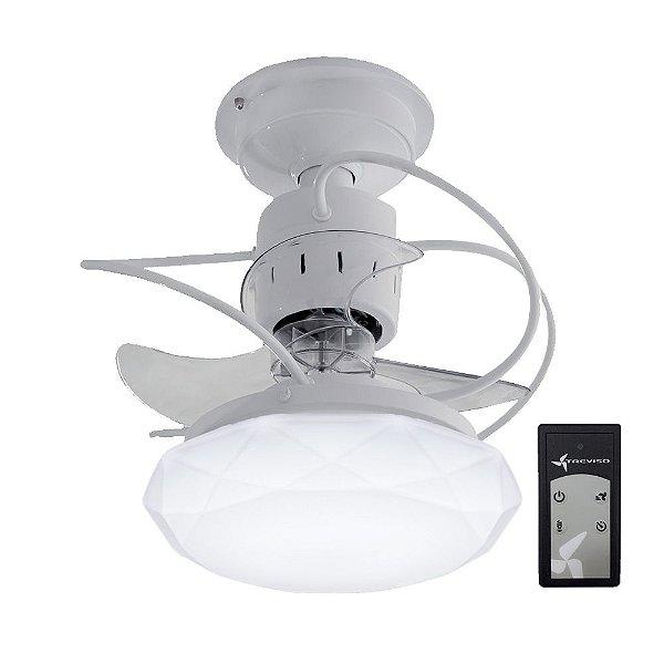 Ventilador de Teto Treviso Cancun Branco C/ Controle Remoto e LED 18W Bivolt