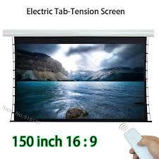 tela eletrica 200 pol 16x9 tencionada