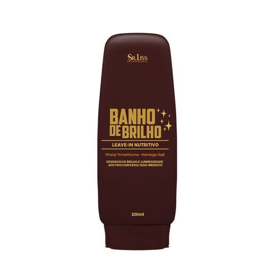 SR. LISS - LEAVE-IN BANHO DE BRILHO 200G