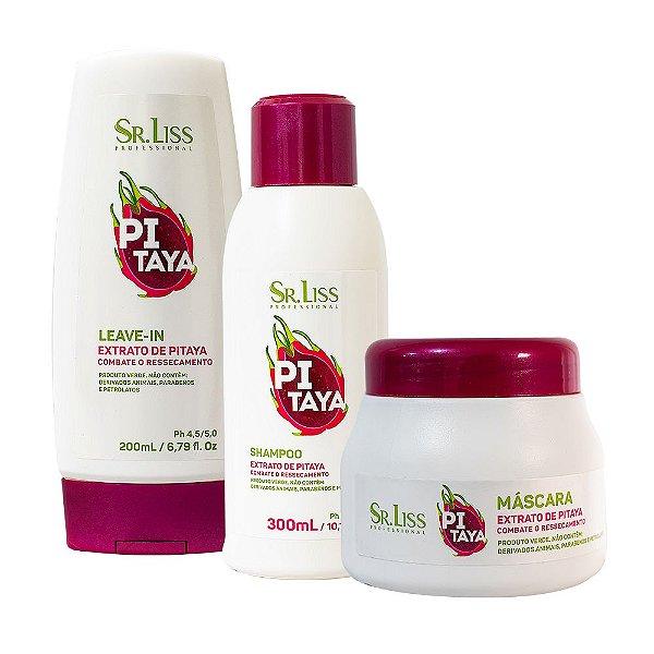 Kit Pitaya Combate ao Ressecamento (Shampoo, Máscara e Leave in) - Sr. Liss