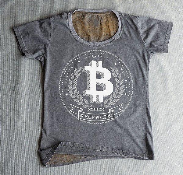 Camiseta Babylook Bitcoin