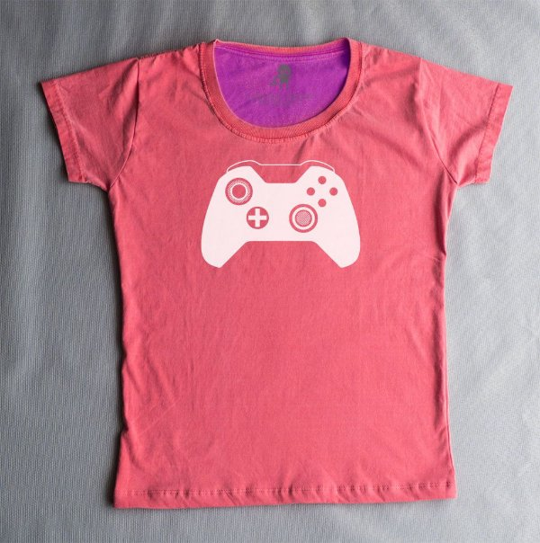 Camiseta babylook xBox