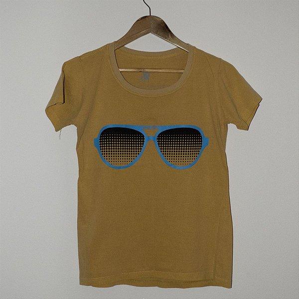 Camiseta Babylook Estonada Óculos GTA V