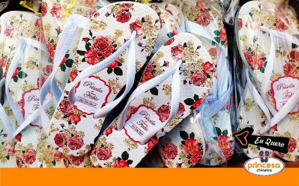 chinelos personalizados joinville - kit com 35 pares linha Premium