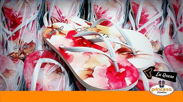 chinelos personalizados em maringa - kit com 50 pares Linha Econômica