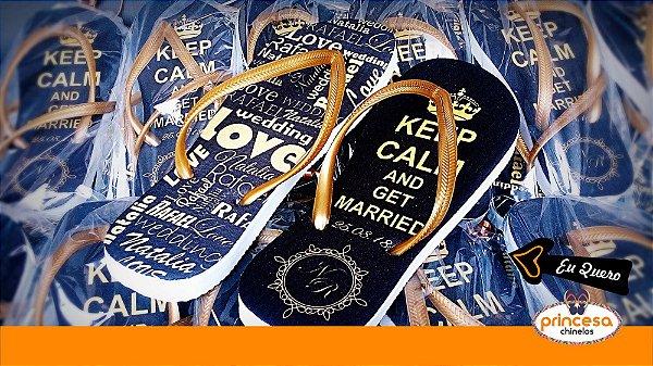 chinelos personalizados campinas - kit com 65 pares linha Premium