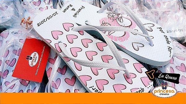 chinelos personalizados baratos sp - kit com 20 pares Linha Econômica
