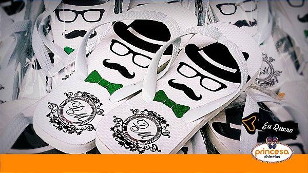 chinelos personalizados contagem - kit com 70 pares Linha Econômica
