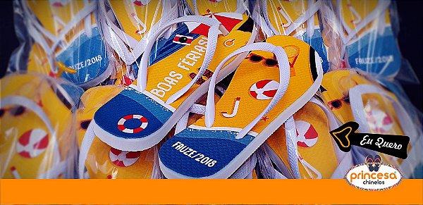 chinelos personalizados sp capital - kit com 950 pares linha Premium