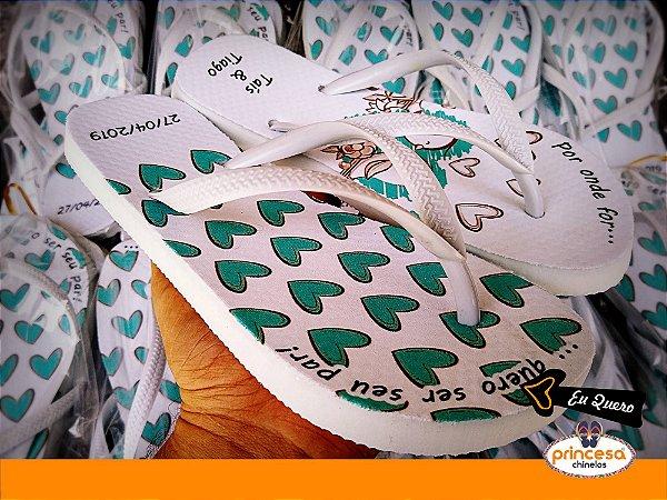 chinelos personalizados lembrança de casamento