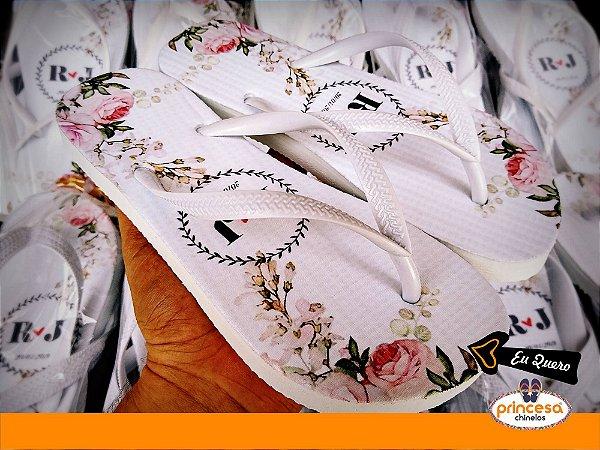 Chinelos personalizados para casamento em campinas
