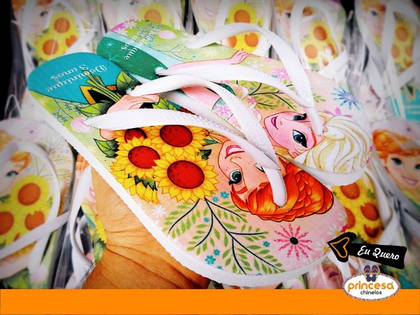 chinelos personalizados para aniversario infantil