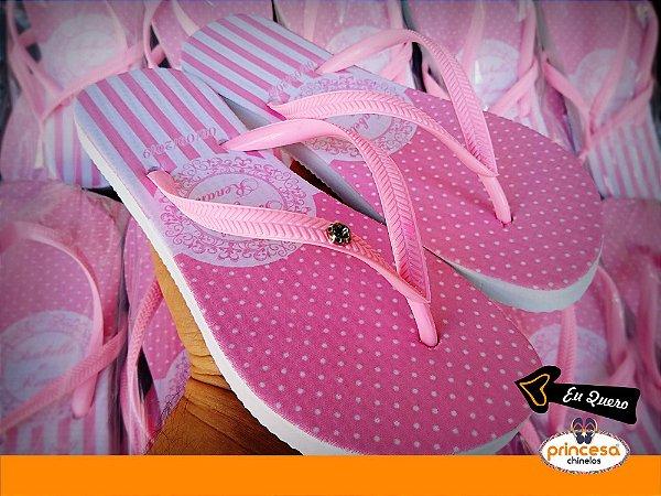 chinelos personalizados para casamento na 25 de março