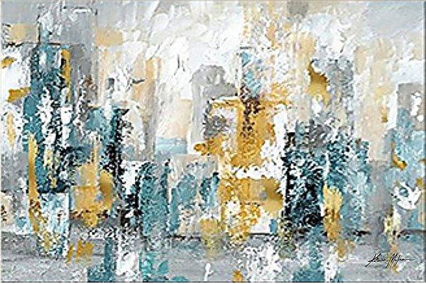 Quadro decorativo - Pintura em tela abstrato moderno